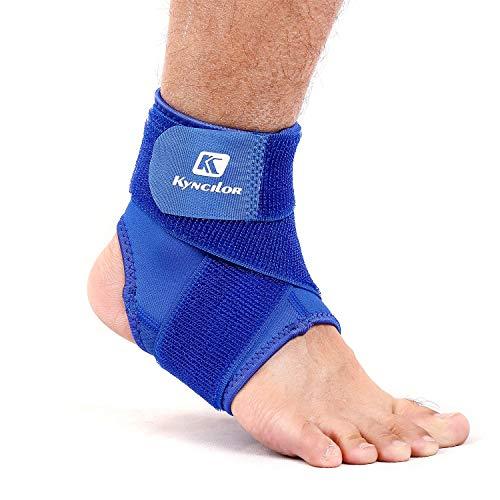 Knöchelstütze für Herren und Damen - mit Klettverschluss, Maximaler Schutz: Hilft Verstauchungen zu verhindern oder sich von diesen zu erholen, Schutz Achilles Sehnenschmerzen(Einzigen Artikel),Blue,L -