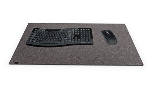 Preisvergleich Produktbild Designer Filz Schreibtischunterlage dunkelgrau in XXL (ca. 40x80cm groß). Originelle Schreibunterlage - besonders weich und komfortabel. Die coole Alternative zur Papier- oder Leder Schreibtischunterlage.