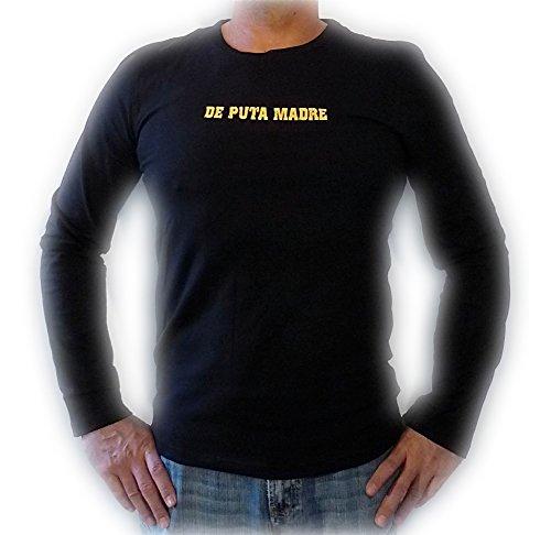 De Puta Madre 69, Langarmshirt, Longsleeve, Gr. XL, schwarz, Style SU10