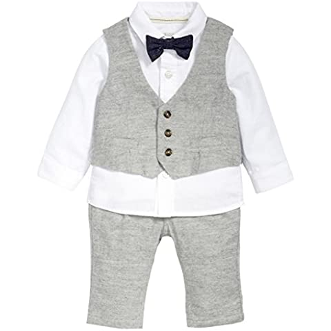Mamas and Papas 4 Piece Grey Tweed Suit Set, Completo Bimba
