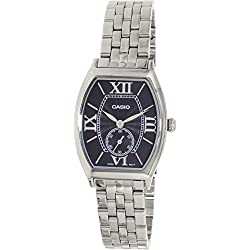 Casio ltp-e114d-1 - Wristwatch for women, black and silver