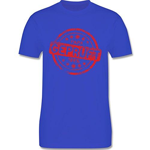Eltern - Papa geprüft - L190 Herren Premium Rundhals T-Shirt Royalblau