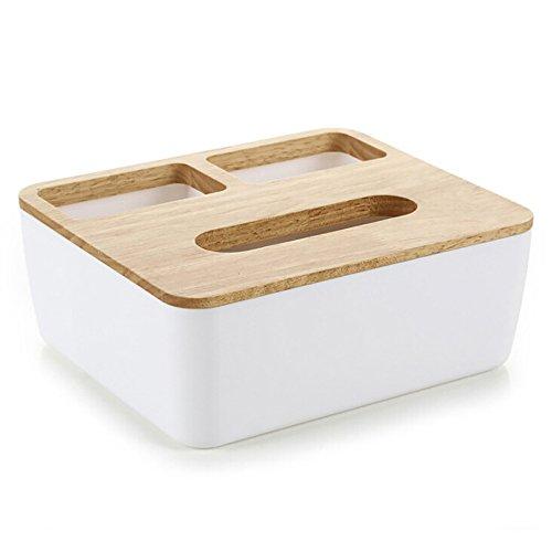 hearsbeauty Eiche Kunststoff Tissue Halter Papier Aufbewahrungsbox Fall Halter Tissue Box Cover Toilettenpapierhalter Spender für Ihr Zuhause, Bad, Büro und Auto, plastik, B Papier-organizer-box