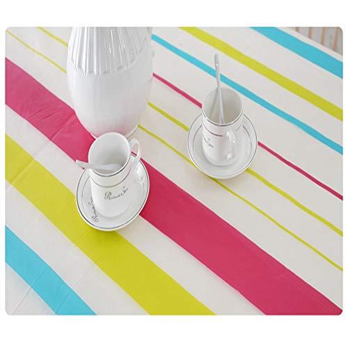 Zgnkl tovaglia impermeabile in pvc tovaglia impermeabile tovaglia in plastica stampata copritavola in plastica anti-caldo tovaglia da caffè, b, 130x180cm