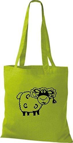 shirtstown Borsa di stoffa animale pecora pecore Kiwi