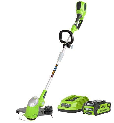 Greenworks Tools 21107VA 40V Akku-Rasentrimmer inklusive 2 Ah Akku und Ladegerät