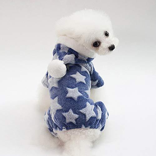 Kleinen Hunde Niedlichen Kostüm - Niedlichen Hund Kleidung Overall warme Winter Welpen Katze Mantel Kostüm Haustier Kleidung Outfit für kleine mittlere Hunde Katzen Heimtierbedarf,Blau,S