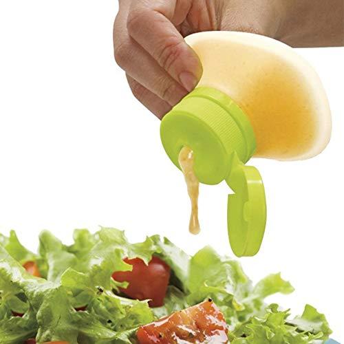 Wuudi Sauce Squeezer, Silikon, auslaufsicher, Salatbehälter Gewürzdose, Sojasauce, Aufbewahrungsflasche, Honigkasten, Küchenwerkzeug