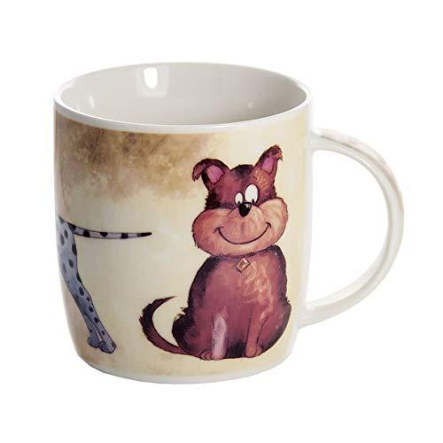 SPOTTED DOG GIFT COMPANY Tasse Hund Kaffeetasse Kaffeebecher Teetasse Porzellanbecher Keramik Hundemotiv Geschenk für Hundebesitzer Hundeliebhaber und Hundefreunde