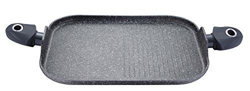 Inducción-Sartén para carne plancha Sartén Sartén Cacerola rectangular de aluminio fundido tamaño...
