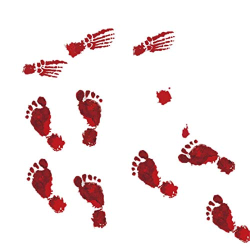 happy event Halloween Bloody Footprints Boden klammert Vampir Zombie Party Decor Wandaufkleber Wanddekoration Wandtattoo Wandsticker