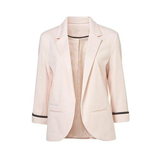 Saoirse - Chaqueta corta tipo blazer para mujer, manga tres cuartos Rosa rosa 62