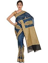 Paheli Women's Silk Saree (Blue)