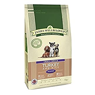 James Wellbeloved Complete Dry Senior Small Breed Dog Food Turkey and Rice, 7.5 kg 8