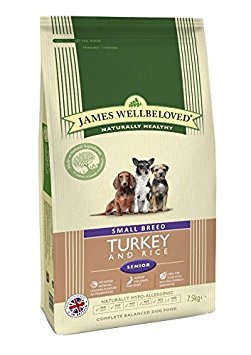 James Wellbeloved Complete Dry Senior Small Breed Dog Food Turkey and Rice, 7.5 kg 1