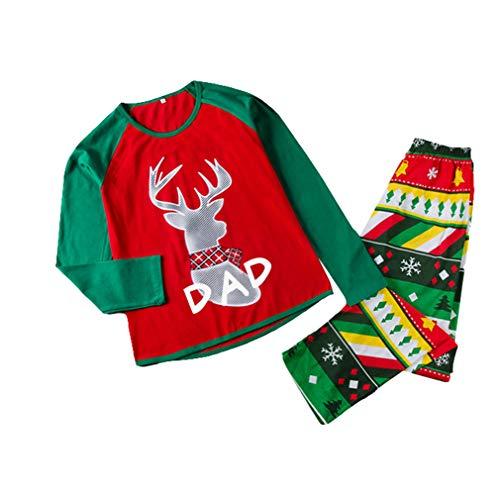 Hibote adult kids mother father christmas pigiameria pigiama da notte set famiglia matching natale pigiama papà l
