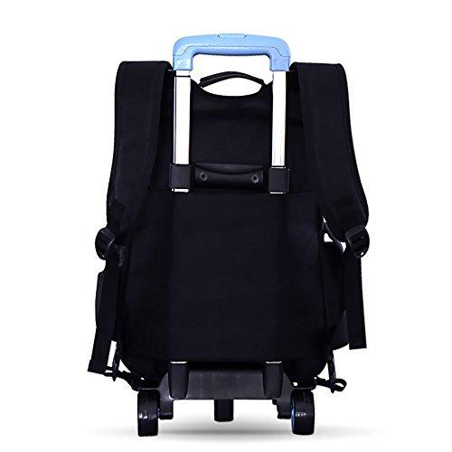 KINDOYO Jungen Mädchen wasserdichte Nylon Schultaschen mit Radfahrer Hand, Gepäck Taschen, Kinder Reisetaschen, Wandertaschen, Schultertaschen für Studenten Hellblau