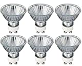 Halogen - 6 spots halogènes GU10, ampoules de rechange, intensité variable, blanc chaud, 40 W