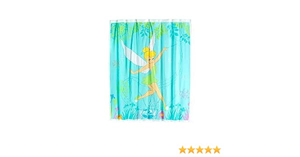 Disney Tinkerbell Vinyl Shower Curtain With Hooks Amazoncouk Toys Games