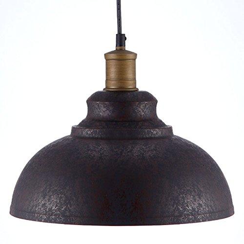 BAYCHEER Suspensions Abat-jour en Métal Style Rétro Industriel Lustre Luminaires Eclairage Decoratif (B)
