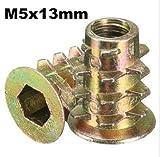 Alamor Sechskant-Antriebsschraube In Gewindeeinsatz Typ D-Mutter Für Holz Mit Flansch M4/M5/M6/M8/M10 - #3