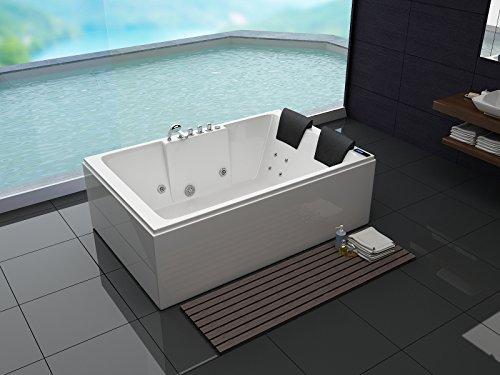 Luxus Whirlpool Badewanne 180×120 in Vollausstattung (Massage) – Sonderaktion