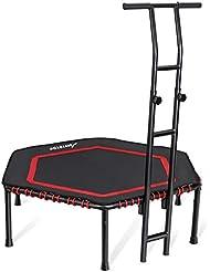 MOVTOTOP 48/40 Inch Indoor Trampolin mit Griff für Erwachsene & Kinder, Fitness Trampolin (Ø110-122cm) für Zuhause- Bs120kg …