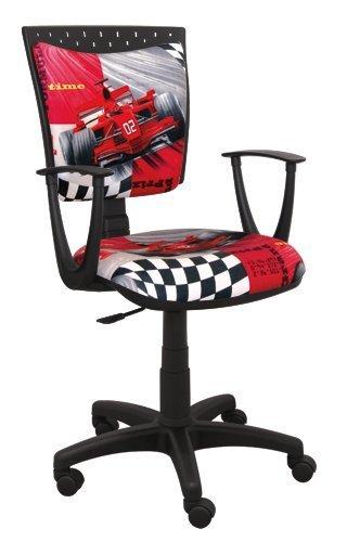 Best For Kids Kinderschreibtischstuhl Jugend-Bürostuhl Kinder-Drehstuhl 6 Design Formel1 F1 Motor SPIDDO (SPIDDO F1-ROT)