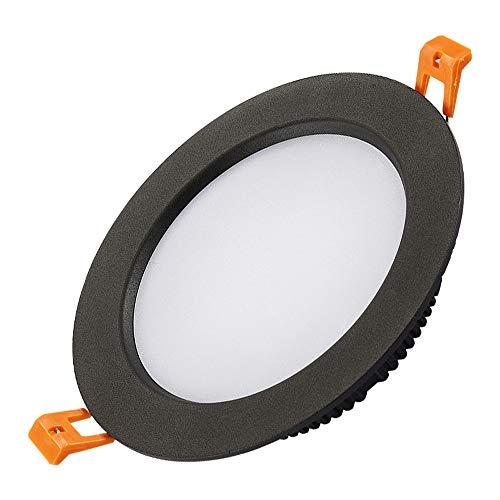 Mogicry 3/5/7/12/18W Downlamp Embedded Deckeneinbauleuchte LED Panel Licht American Black Downlight Drehbare Dekoration Anti-Fog-Eye-Protection-Decken-Panel Licht für Wohnzimmer