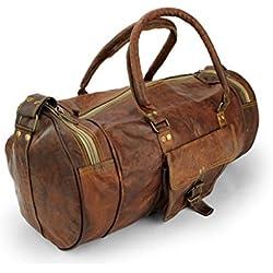 A.P. Donovan - Viajar bolsa de cuero - Weekender de la vendimia para los deportes de ocio de vacaciones - también como equipaje de mano - 40cm