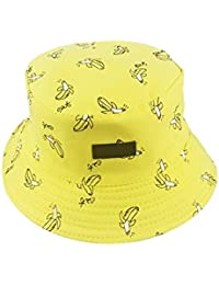 a7c90d34384 Doitsa Cotton Bucket Hats French Fries Cake Radish Banana Design Reversible  Hat SUN UV Protection Wide