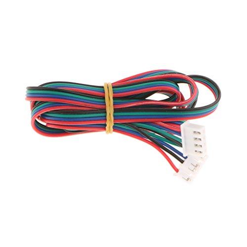 MagiDeal 1x Stepper Motor Kabel führen Kabel Stecker 4pin auf 6pin für 3D Drucker Motor Kupferkern Kabellänge: 1m