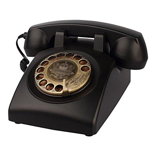 Telefon ABS retro telefon Home Fashion Festnetz Business Office Hotel Festnetz 13 * 23 * 13 cm (4 farben optional) (Farbe : Schwarz)