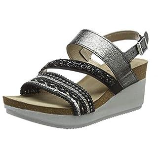 INBLU Women's Ente Ankle Strap Sandals, (Nero 014), 2.5