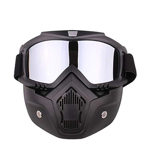 YHL Motocross-Brille Motorrad-Maske Mit Brille Mit Winddichtem Sand Anti-Friction Abnehmbar Für Das Fahren Im Freien,C -