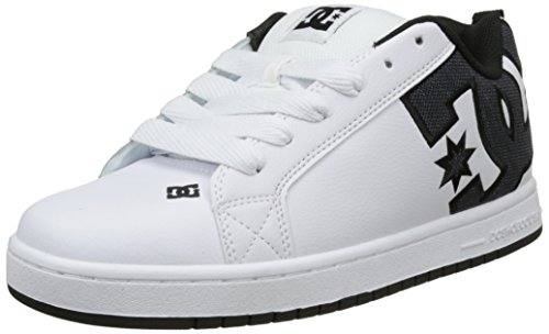DC Shoes Herren Court Graffik S Flach, Blanc (White Smooth), 43 EU (Schuh Skate Se Net)