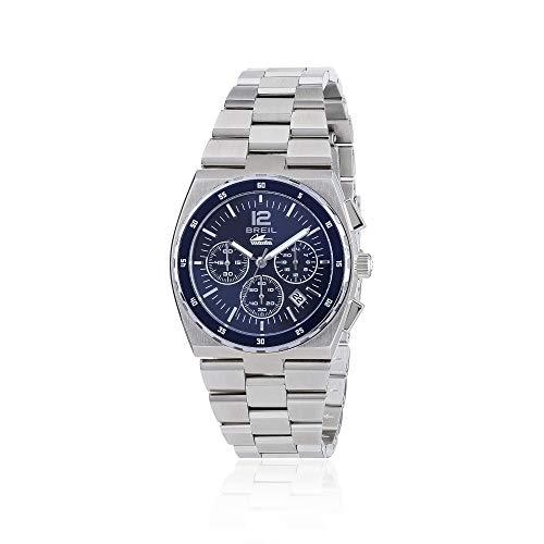 Breil - orologio cronografo da donna manta sport tw1690 - quadrante monocolore blu con datario - cassa 38mm e cinturino in acciaio - movimento al quarzo chrono