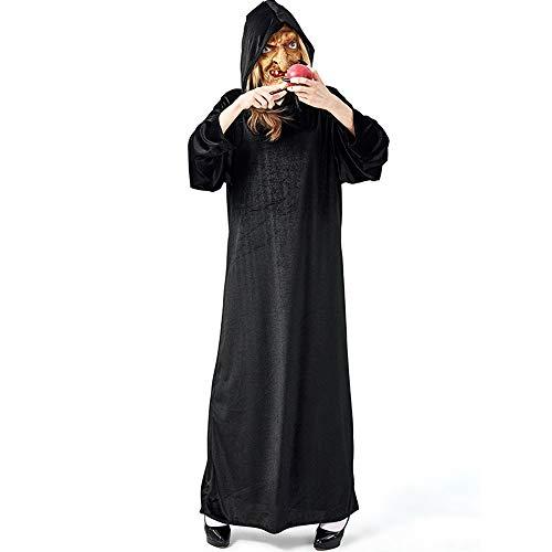 Halloween Kostüm Alte Hexe - YyiHan Halloween Kostüm, Outfit Für Halloween Fasching Karneval Halloween Cosplay Horror Kostüm,Halloween Party Party Cos Hexe Alten Schloss Hexengift Apfel