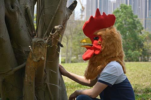 JINHUA Trade-Mask Mascarilla de Animal Mascarada Popular Serie Mascarada máscara de Boca Amarilla Polla simulación Animal máscara Mascarada ( Color : Gold , Size : 25*25 )