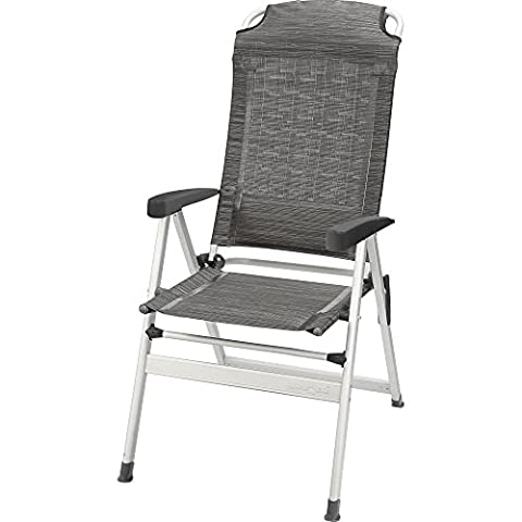 Brunner Kerry Slim Aluminium Folding Camping Chair (One Size) (Contour Carbon)