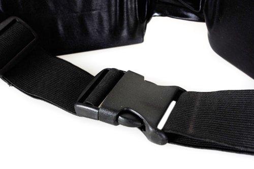 COM-FOUR® Gürteltasche Sport mit schwarzem Zippverschluss elastisch (Blau) Blau - 2 Stück