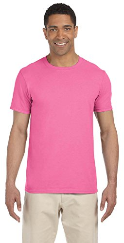 Gildan Soft-Style Herren T-Shirt, Kurzarm, Rundhalsausschnitt Azalea