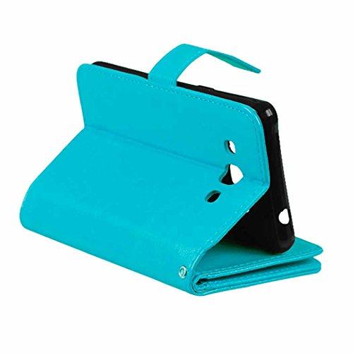 Samsung Galaxy J3 Pro Case Flip Folio Case Solid Farbe Premium Synthetik-Leder-Kasten-Standplatz-Mappen-Kasten-Kasten mit 9 Karten-Bargeld-Slots für Samsung Galaxy J3 Pro Case ( Color : White , Size : Blue