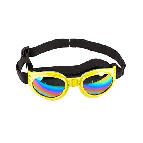 kafiGC8 Faltbare Hundesonnenbrille, Winddicht, gegen Picking, UV-beständige Brille