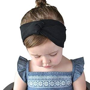 BeautyTop Baby Mädchen Knoten Haarband Prinzessin Stirnband 2019 Neuer Taufe Haarschmuck Fotoshooting Kopfband Kleinkinder Schöne Schicke Kopfbedeckung Elegant Haarbänder