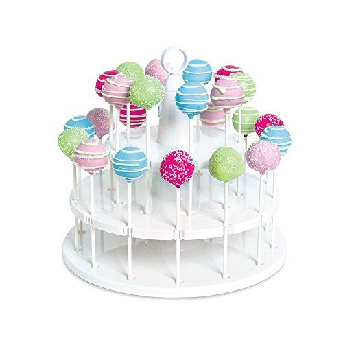Bakelicious 73861 White Plastic Cakepop, plastik, Cake Pop Ständer