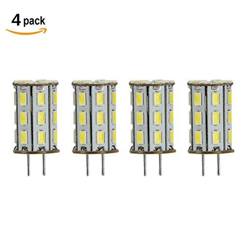 GY6.35 LED 5W als Ersatz für 35W Halogen Lampen ZSZT 12V Kühl Weiß 6000K für Schreibtischlampe, Kristall Scheinwerfer-Birne ( 4 Packs ) (Bi-pin Base Gy6.35)