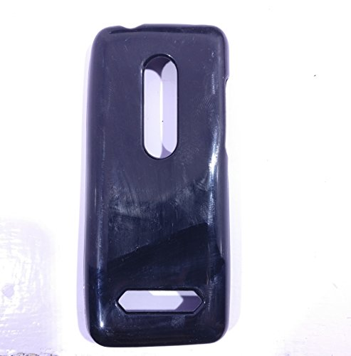 iCandy™ Colorfull Thin Soft TPU Back Cover For Nokia Asha 206 - Black  available at amazon for Rs.109