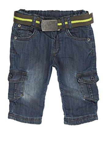 Steiff Baby - Jungen Jeans, Einfarbig, Gr. 62, Blau (Dark Blue Denim Blue 0012)