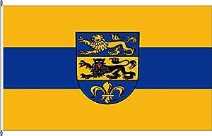 Flagge Fahne Hissflagge Landkreis Dillingen adDonau - 100 x 150cm